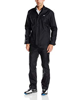 Under Armour Men's Storm Golf Rain Suit, Black (001)/Steel, Medium